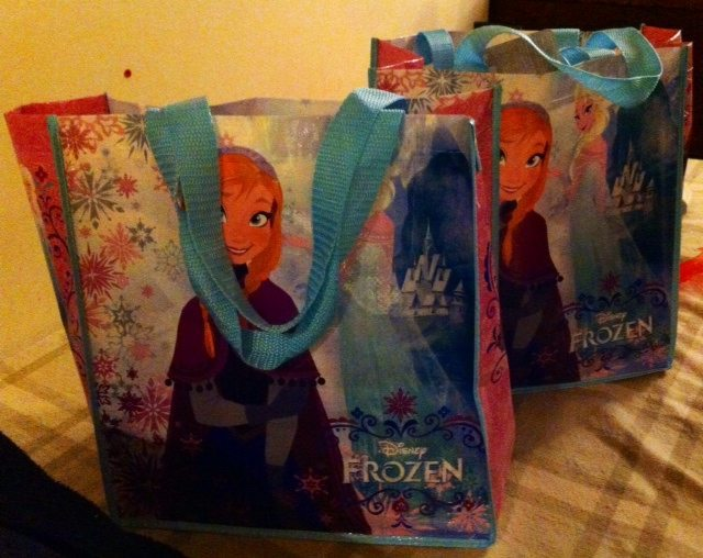 Valentine's Disney Store Gifts in Reusuable Frozen Bags