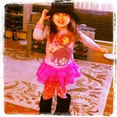 Emma Dressed Up as Grandpa