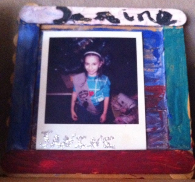 Me in My Brownie Days - Homemade Photo Frame I made for My Mom Back in the Day.
