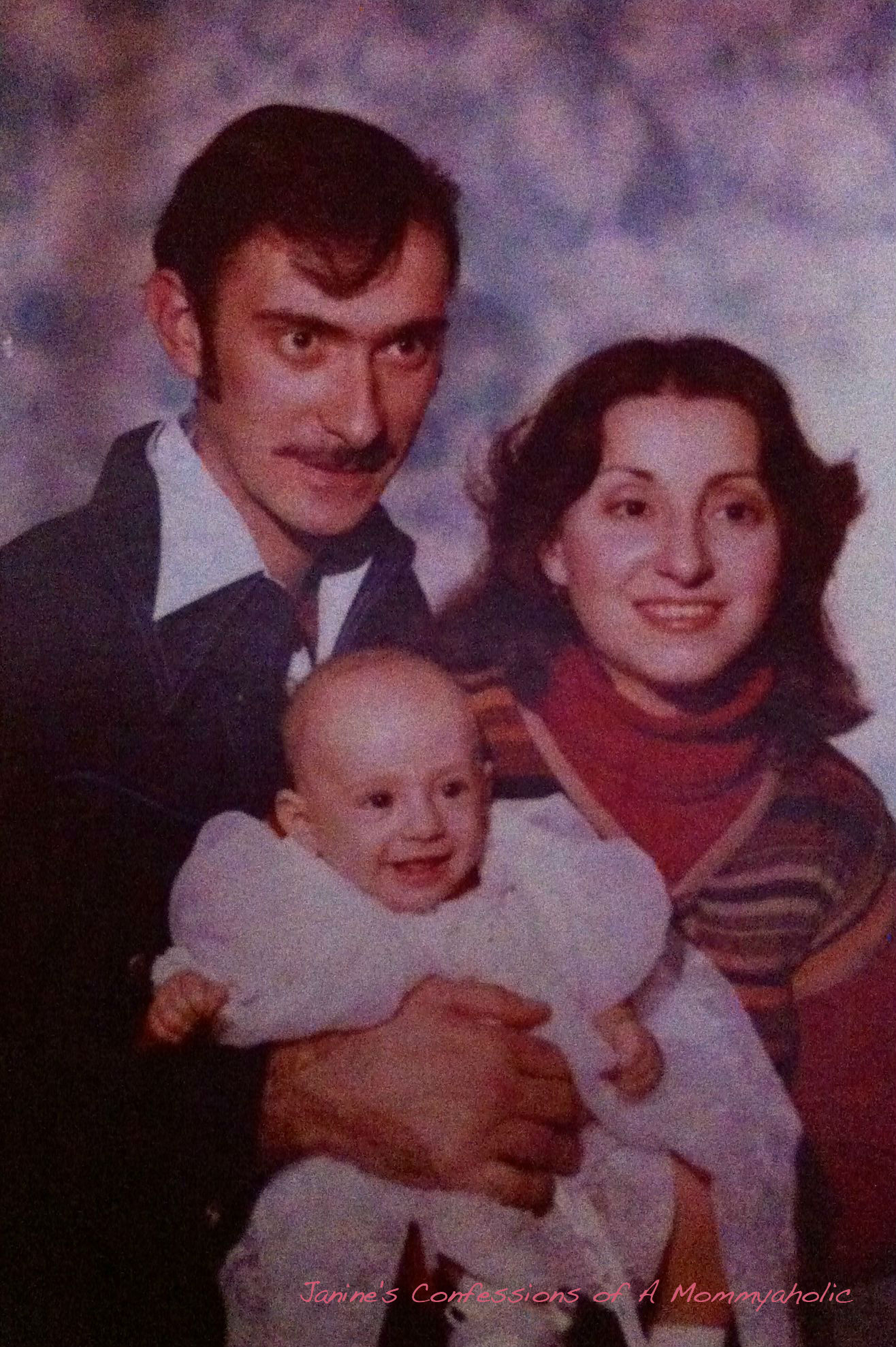 Me with my parents as a baby back in the 70s