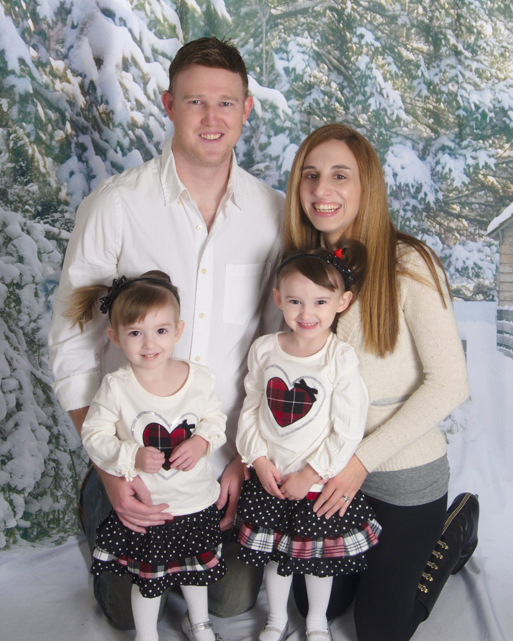 Christmas 2012 - Old & Outdated Family Photo os the Four Of Us