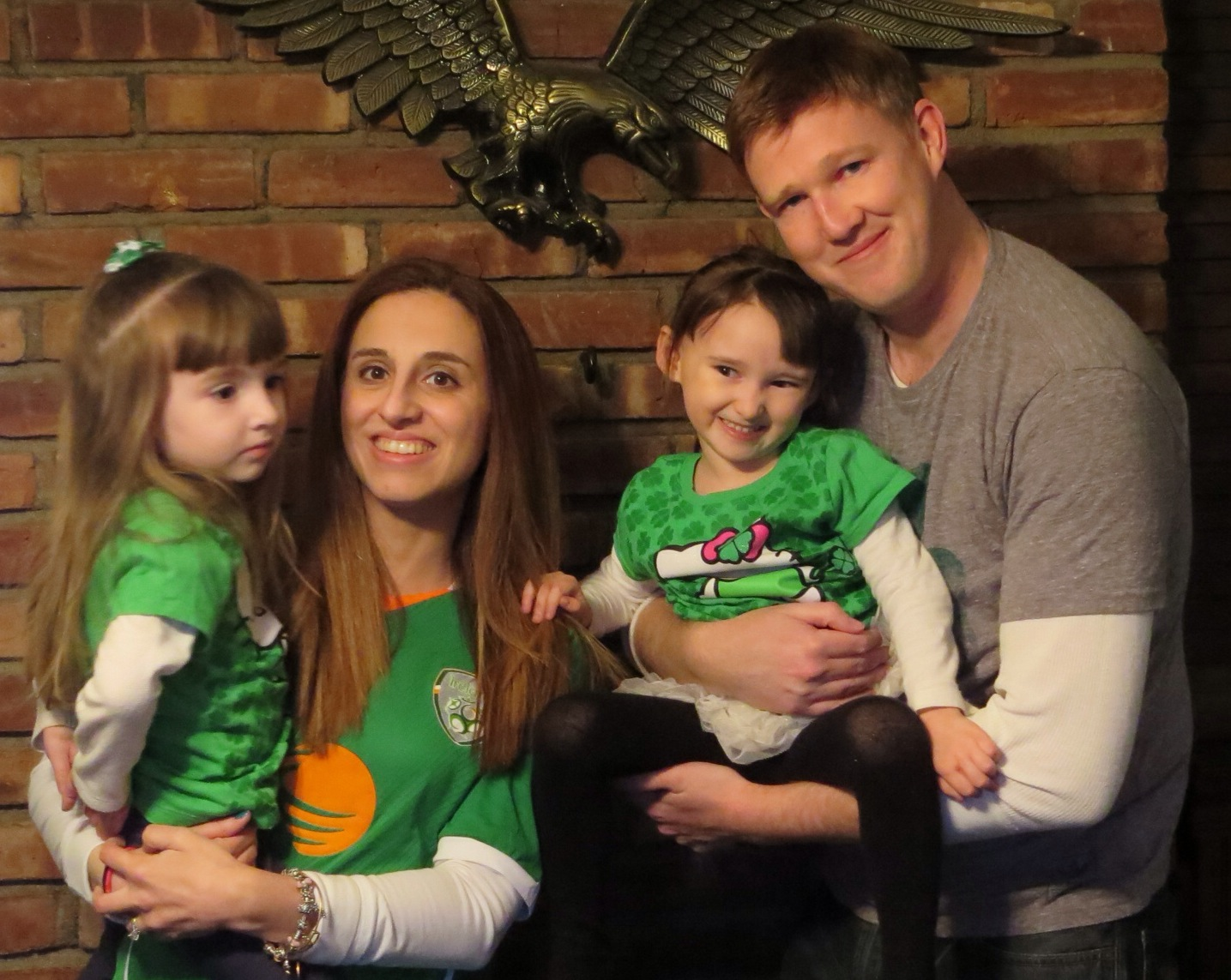 Our Family on St. Patrick's Day -