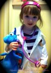 Lily Dressed Up as Doc McStuffin