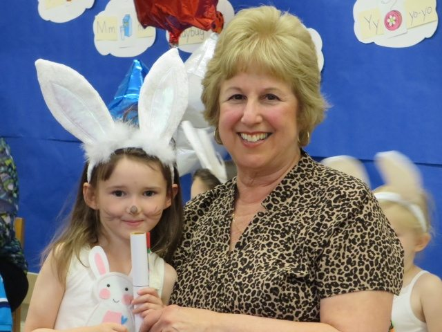 Emma and Her Pre-School Teacher at Graduation/Pre-School Show