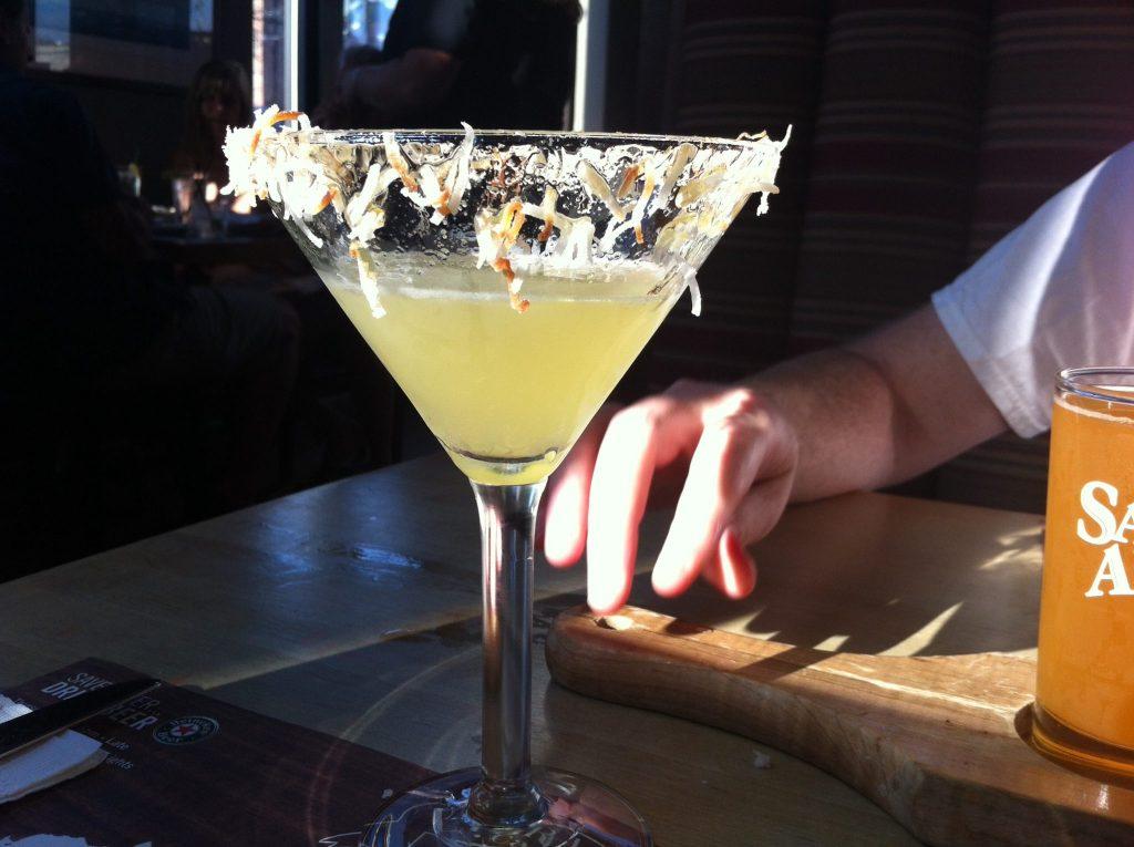 Library Cafe Martini Birthday Drink