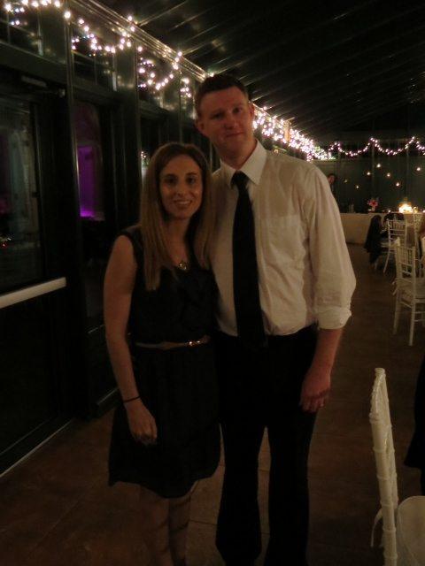 Kevin and I - Enjoying the Wedding