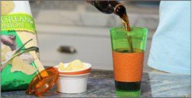 Pour into cup