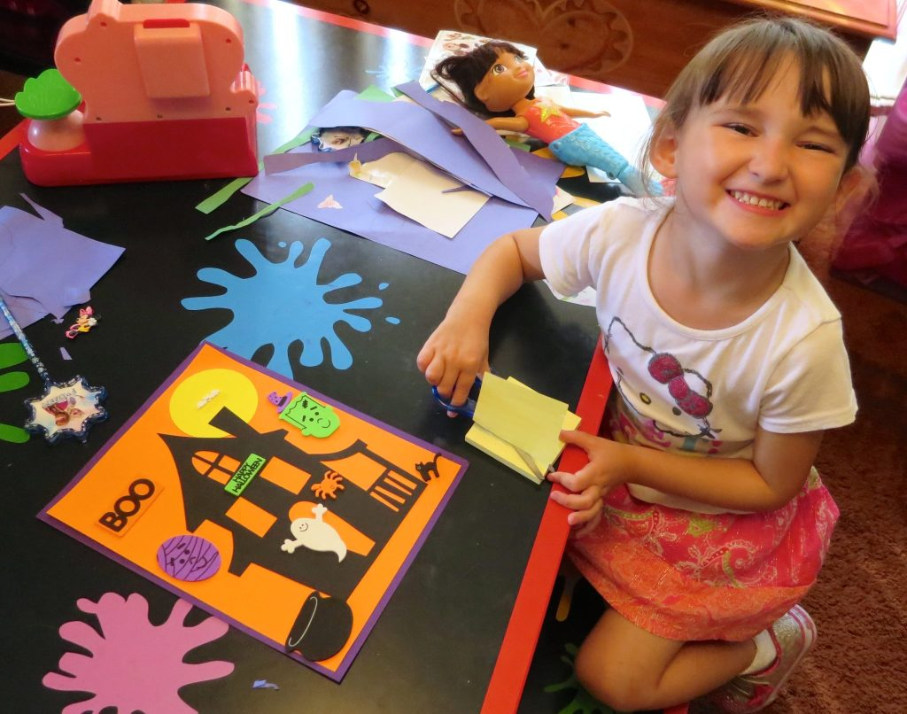 Emma Had a Blast Putting the Haunted House Project Together from ArtSee!