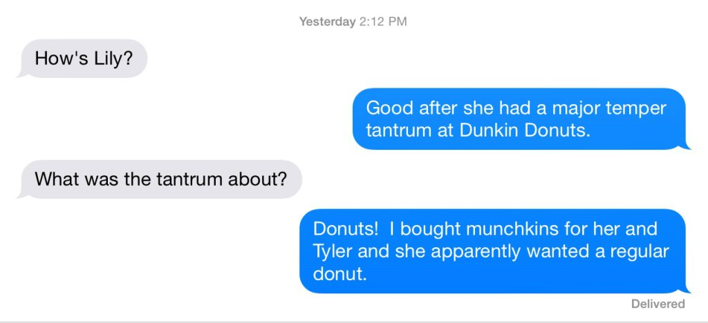 Donuts (specifically munchkins) paved my road to hell on this particular day!