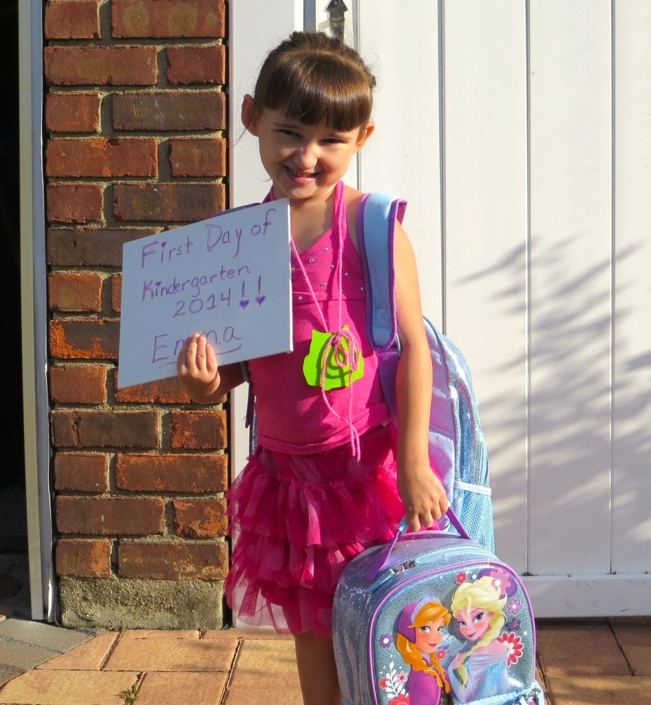 Emma 1st Day of Kindergarten