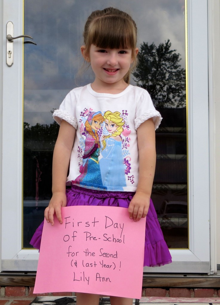 Lily 1st Day of Pre-School 2014