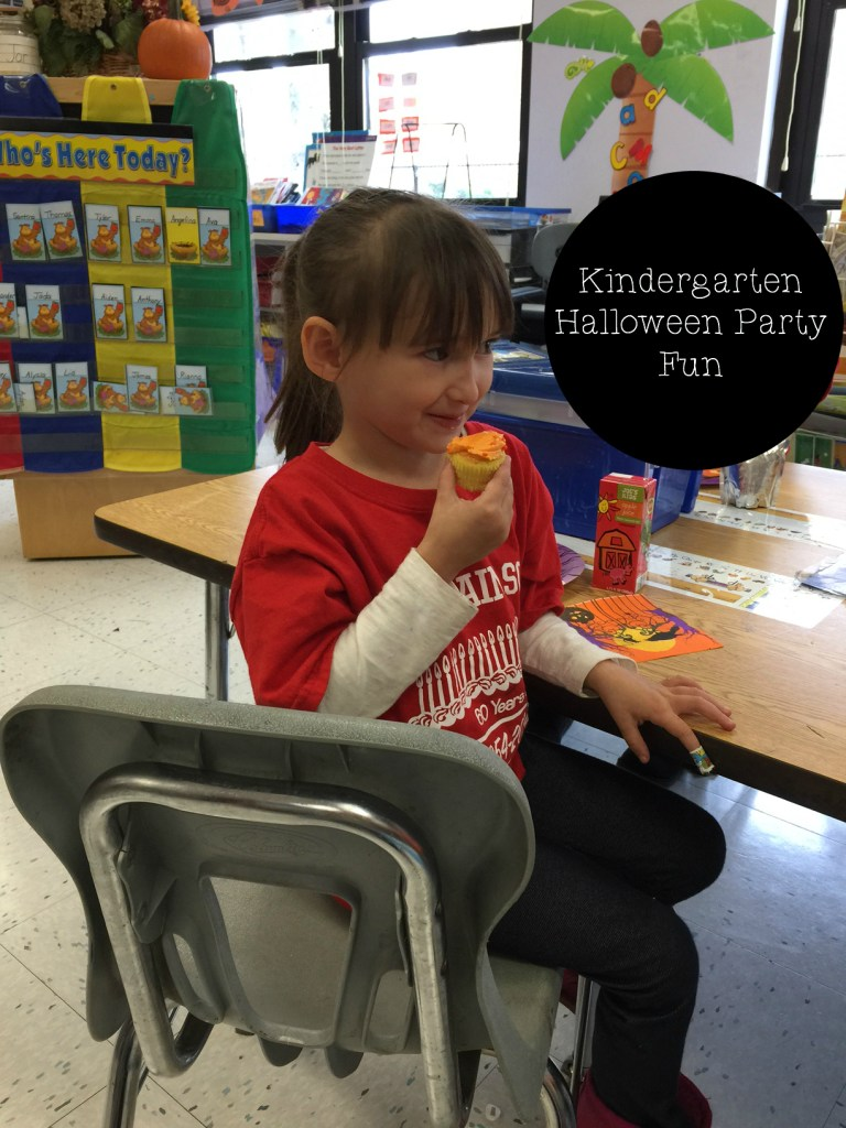 Emma getting her snack on at her pre-school party