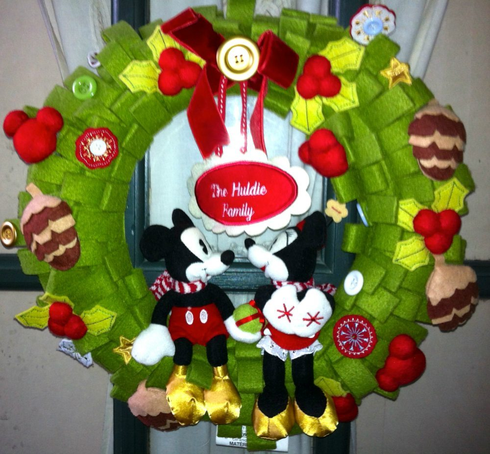 Our Disney Mickey and Minnie Wreath Personalized from Our First Year of Marriage