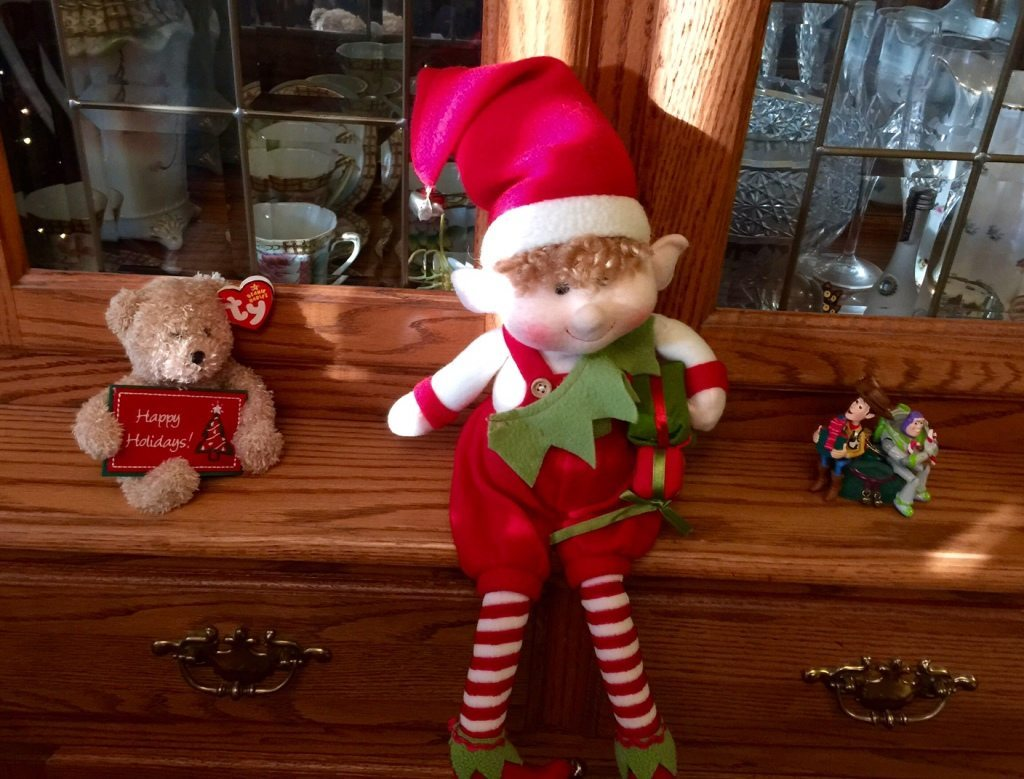 Gingerbread Returns - The girls love their Elf on a Shelf!