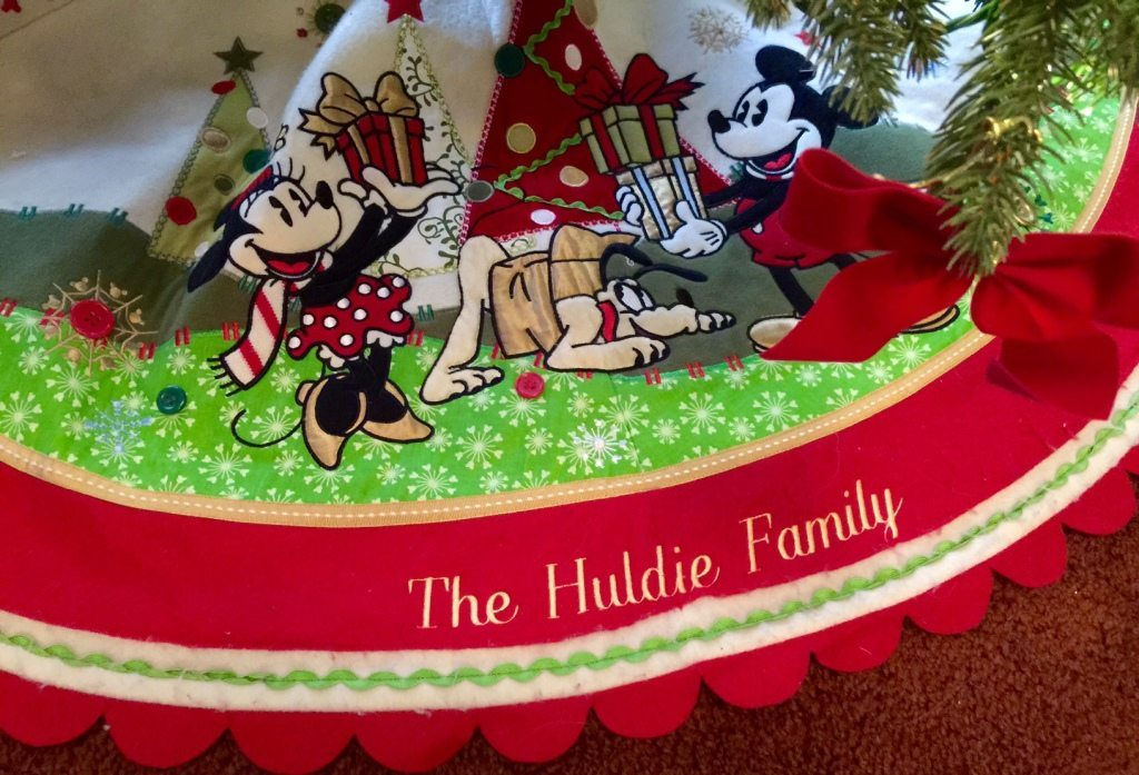 Mickey and Minnie Mouse Tree Skirt
