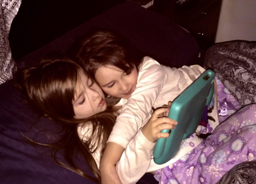 Happier iPad Playing Sharing Moment