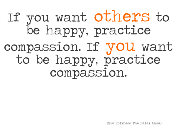 Practicing Compassion Quote from the Dali Lama