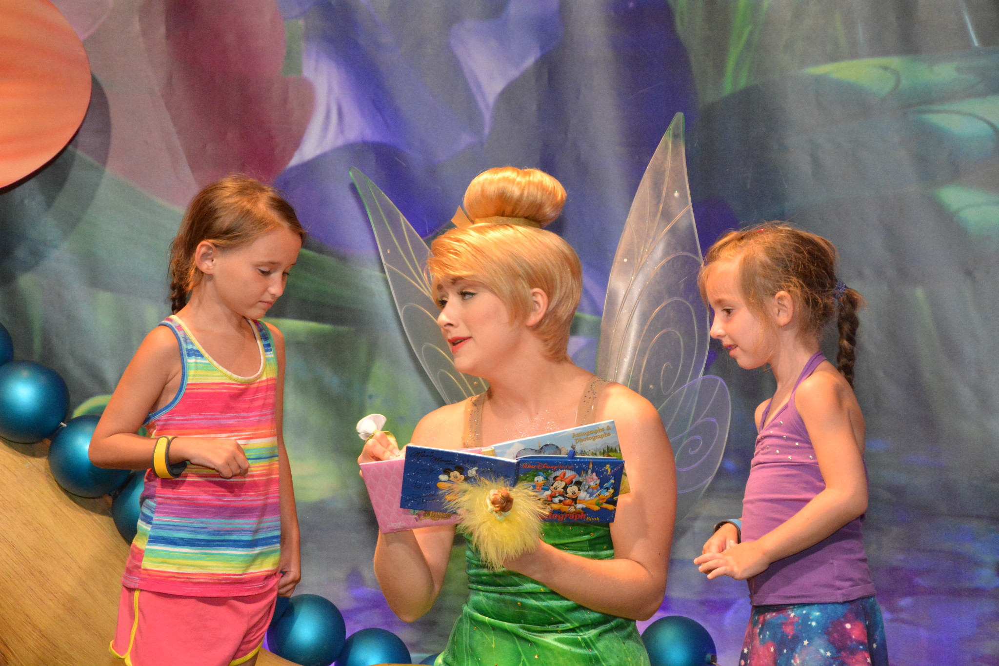 The girls and Tinker Bell
