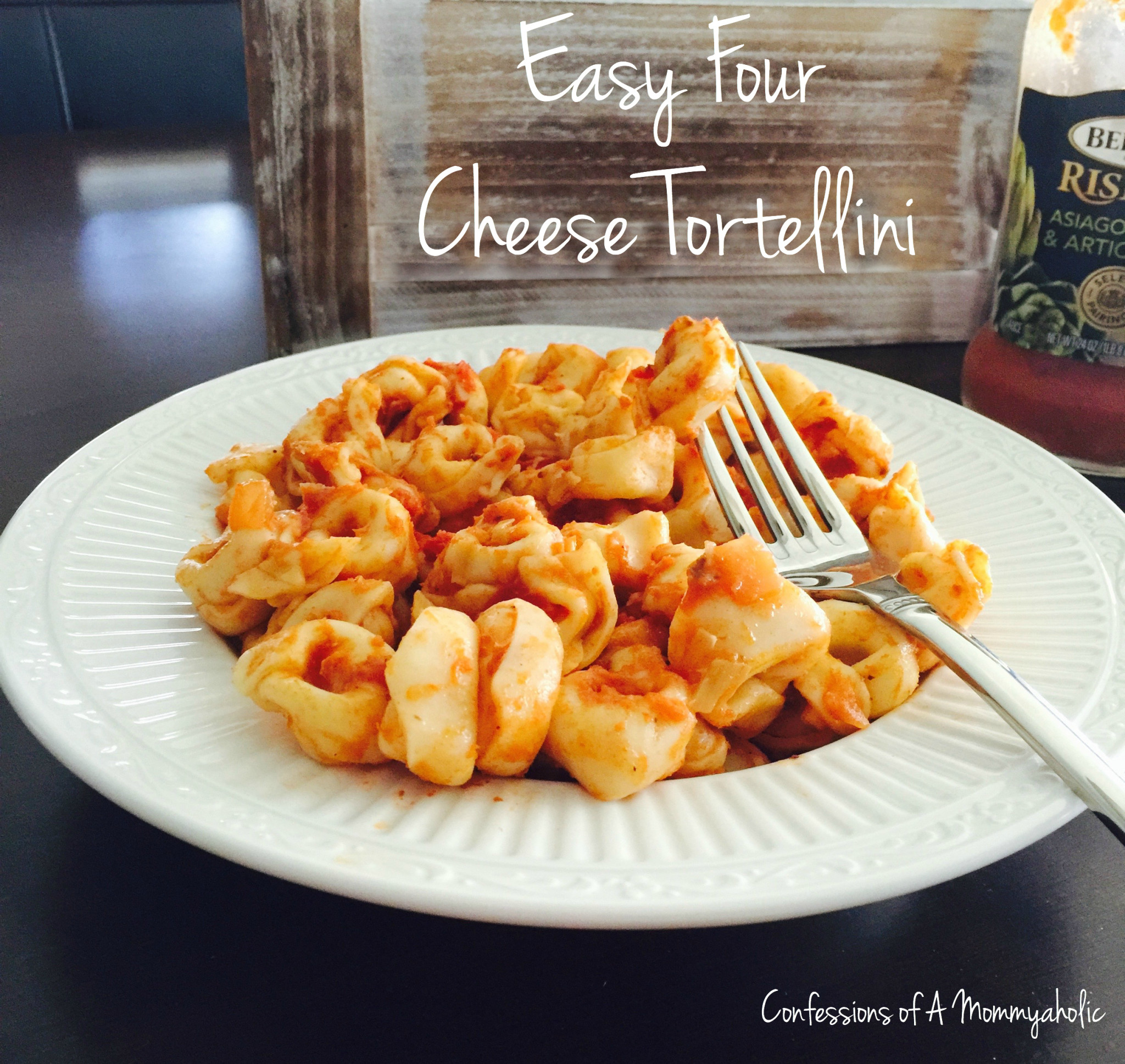 Easy Four Cheese Tortellini Pasta