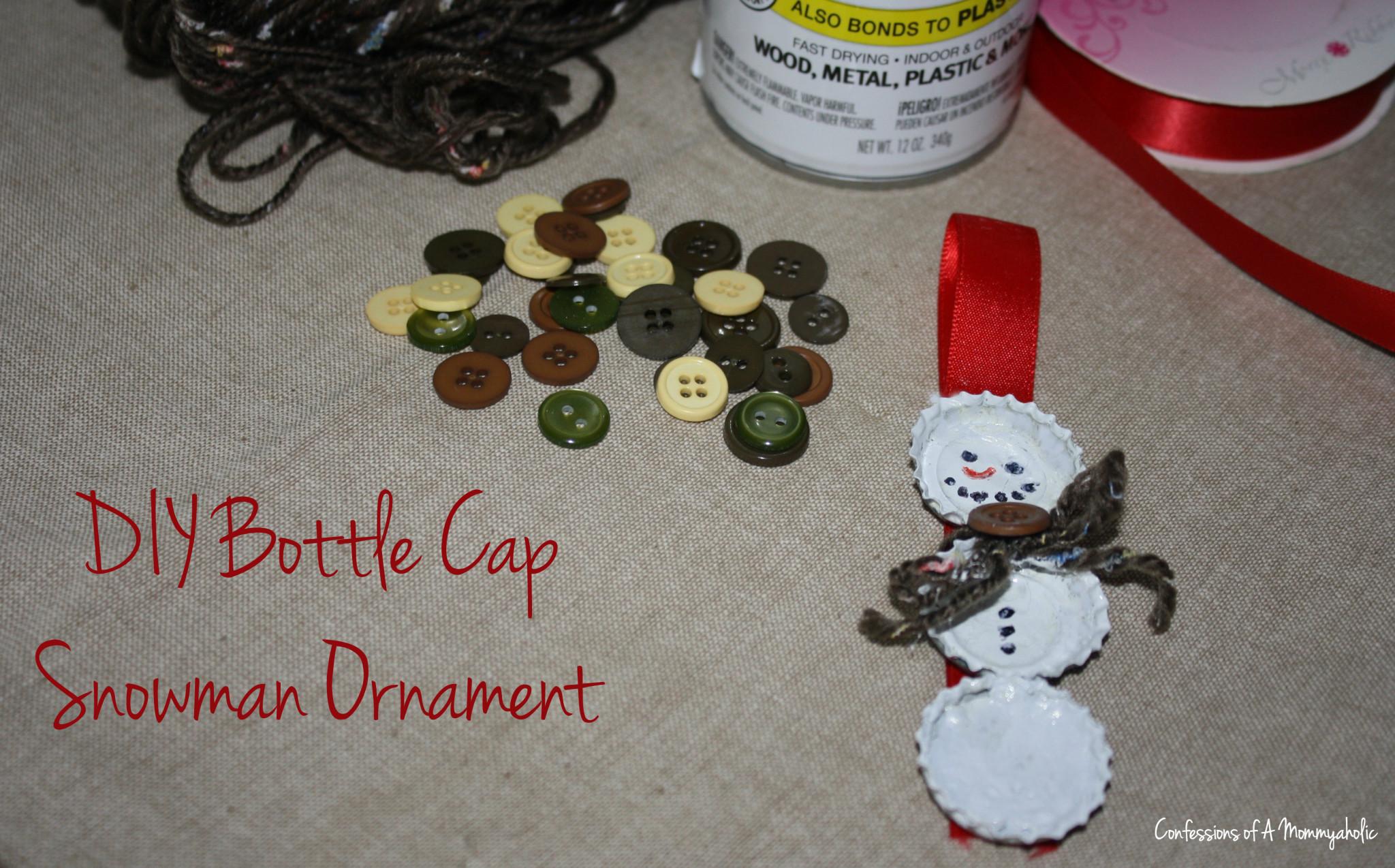 DIY-Bottle-Cap-Snowman-Ornament