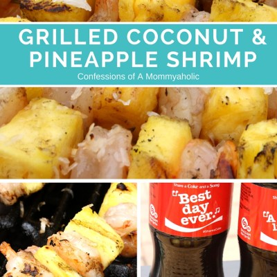 Grilled Coconut and Pineapple Shrimp