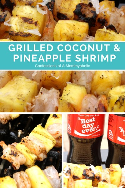 Grilled Coconut & Pineapple Shrimp