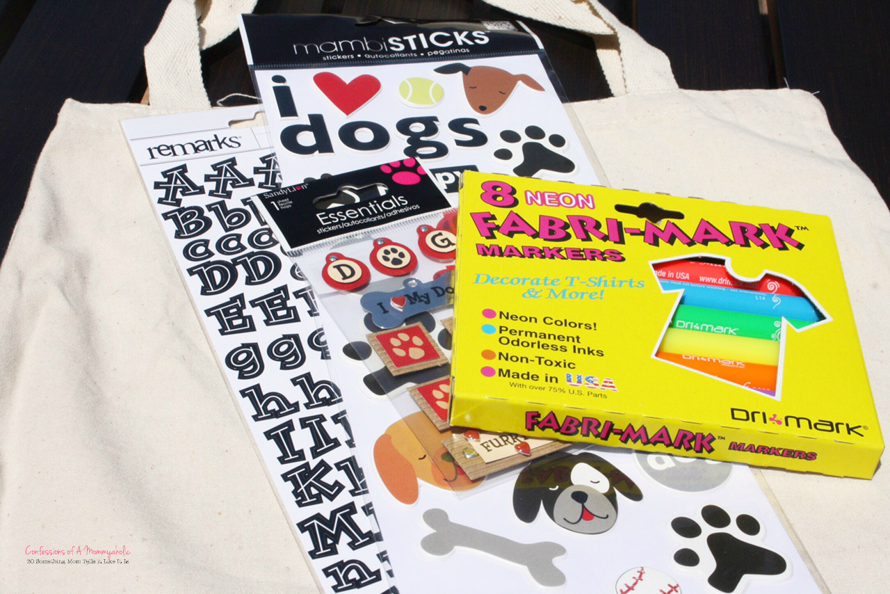 Supplies FOR DIY Doggie Summer Tote