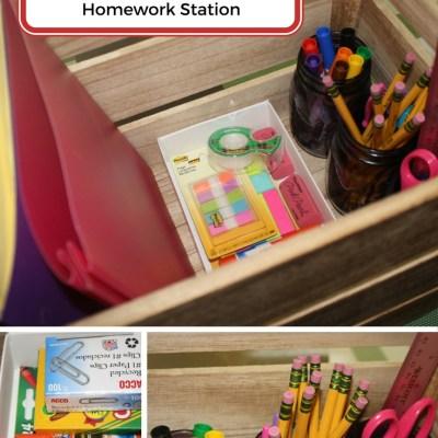 DIY Homework Station W/Printable Label