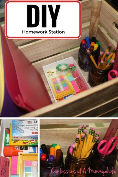 DIY Homework Station for Back to School