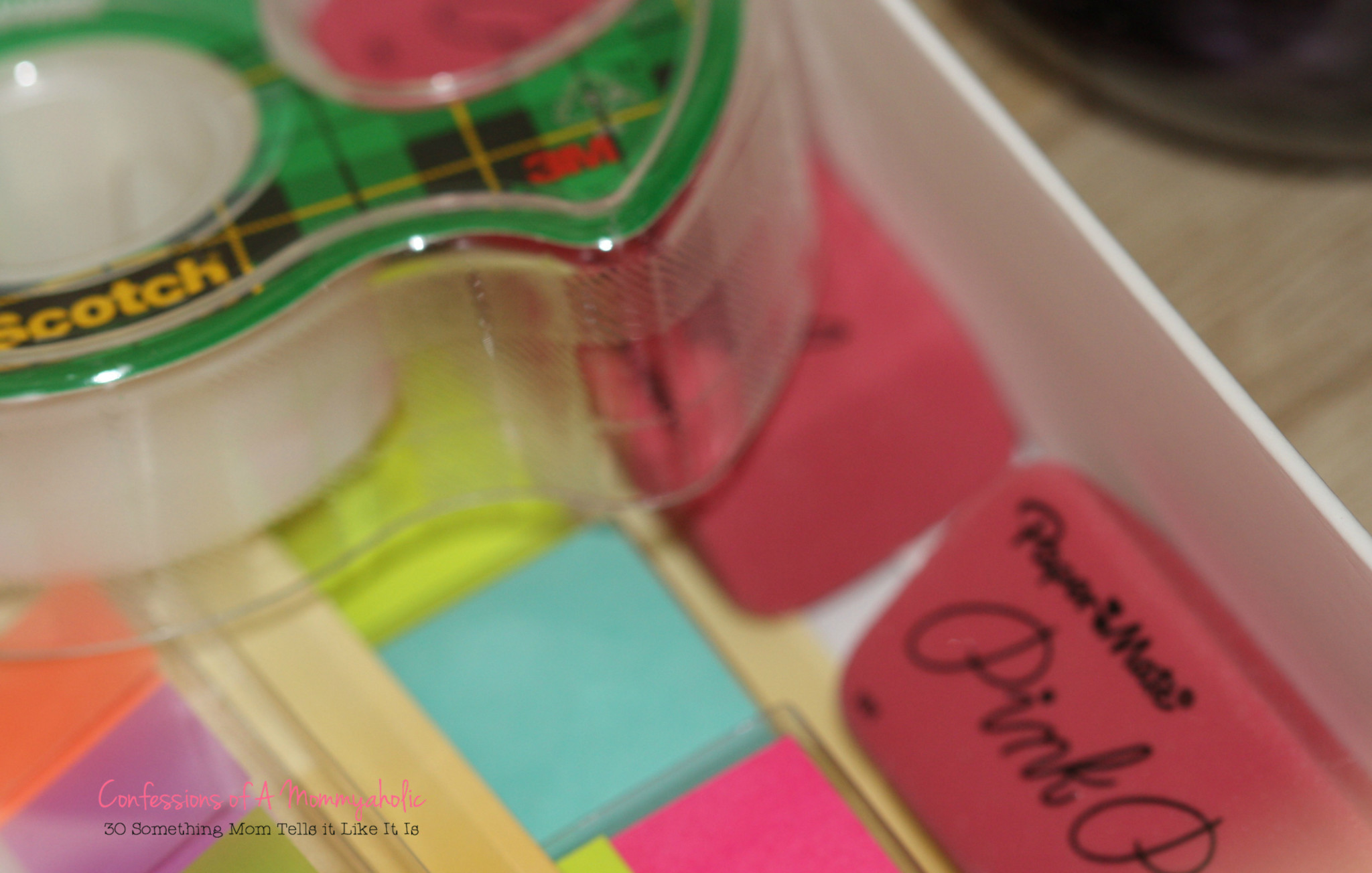 Scotch Tape, Erasers, Post-It Notes