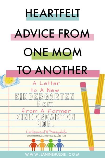 Letter to Kindergarten Mom