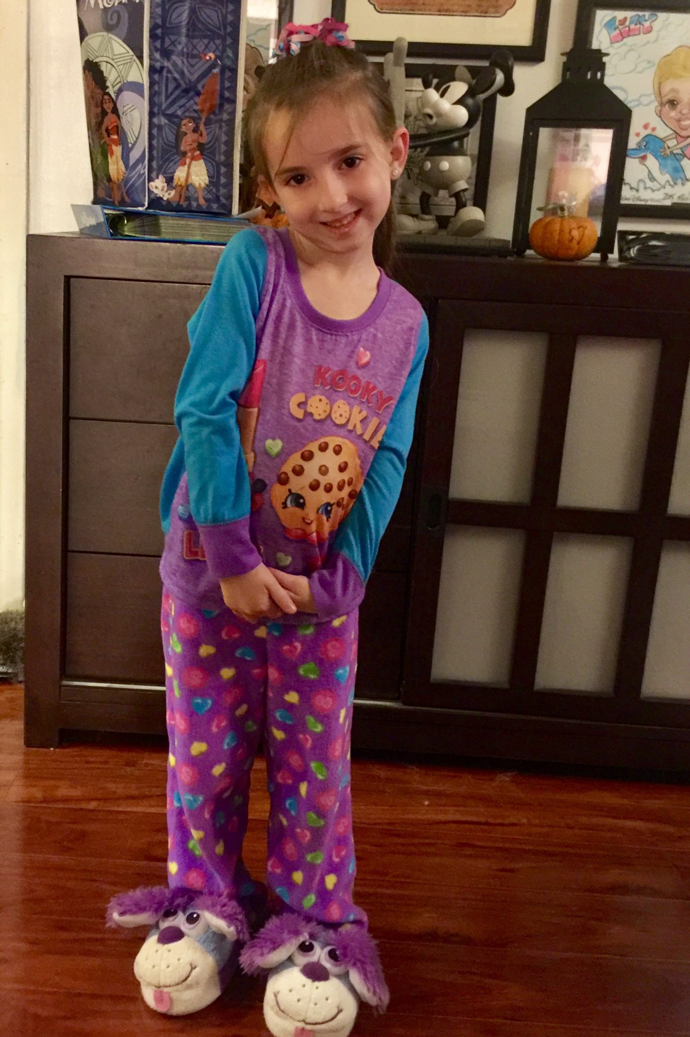 Lily in her Shopkins Pajamas