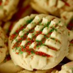 Easy Whipped Shortbread Cookie Extreme Closeup