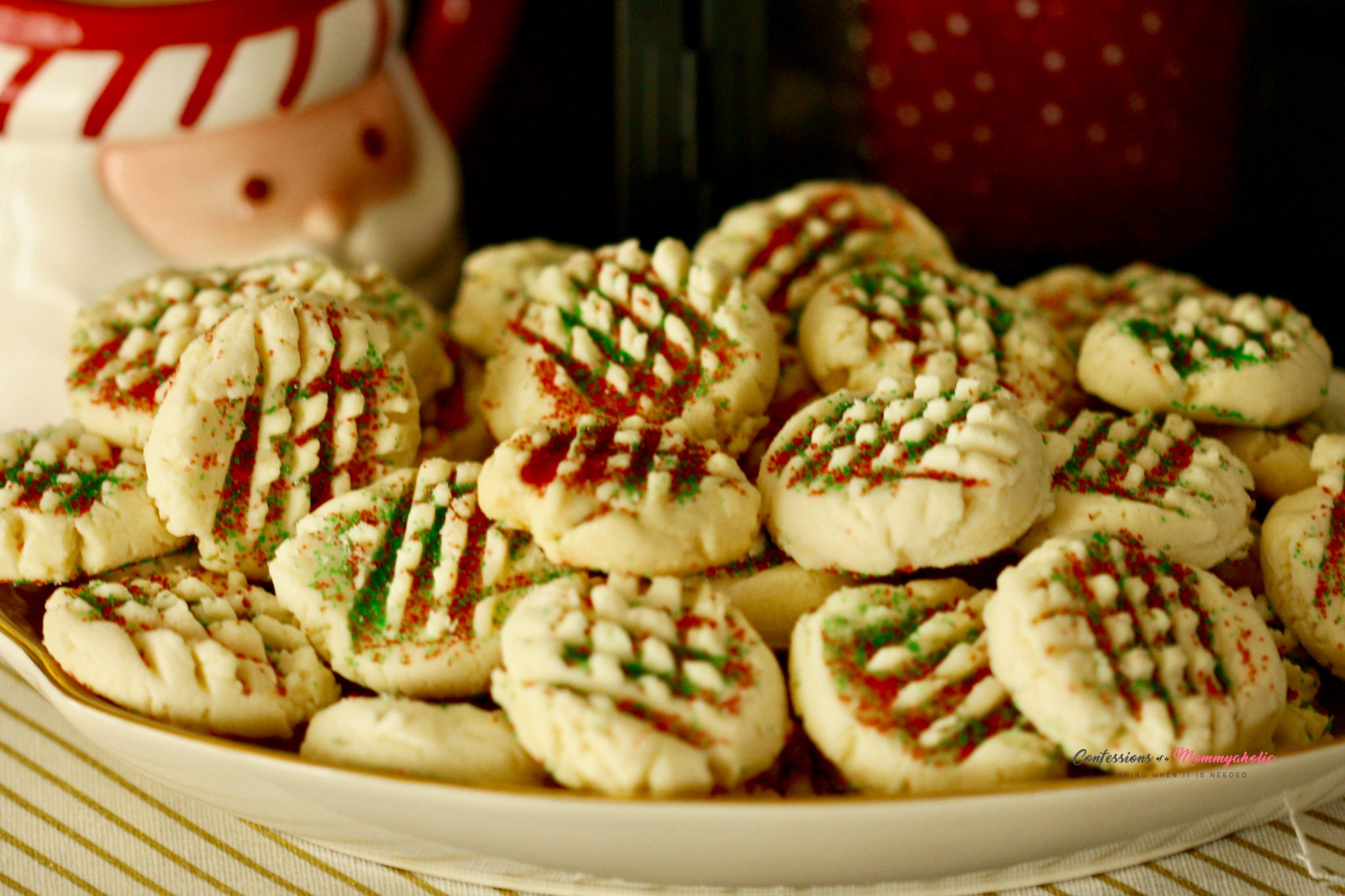 Easy Whipped Shortbread Cookies for Christmas