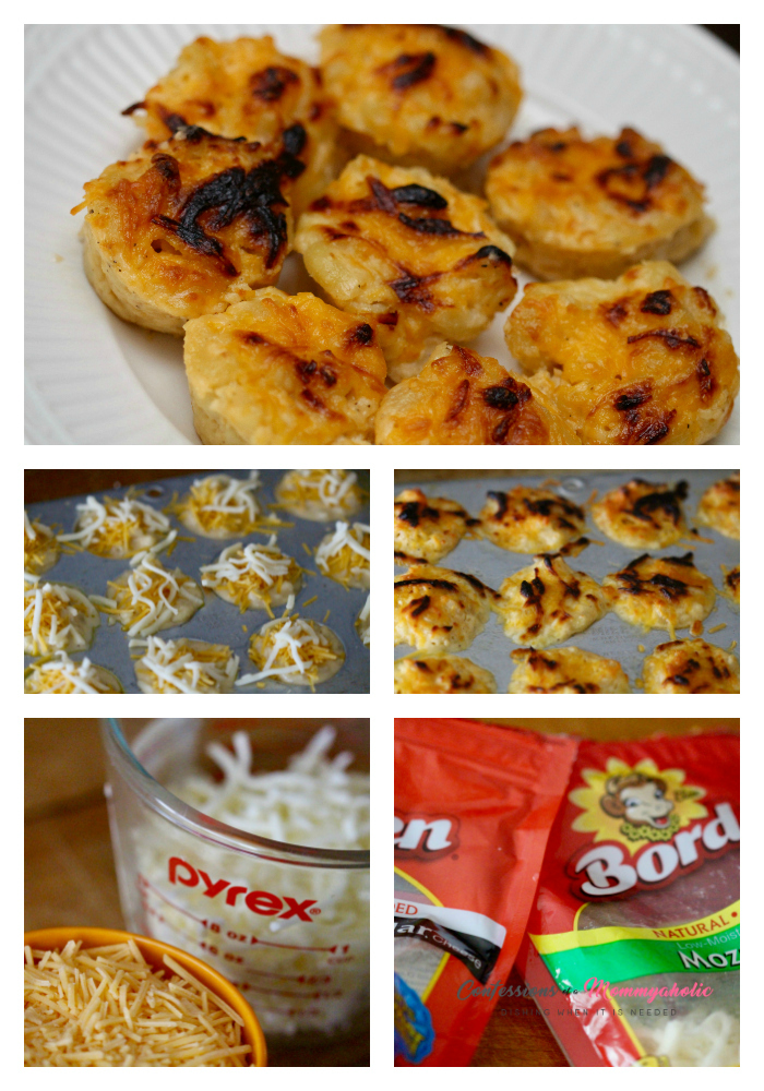 Mac and Cheese Bites Collage