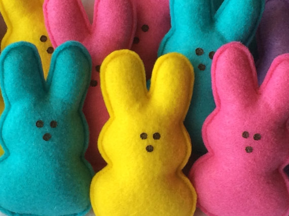 Easter Bunny Peeps Ornament