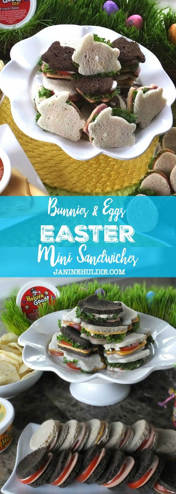 Bunnies and Eggs Easter Mini Sandwiches