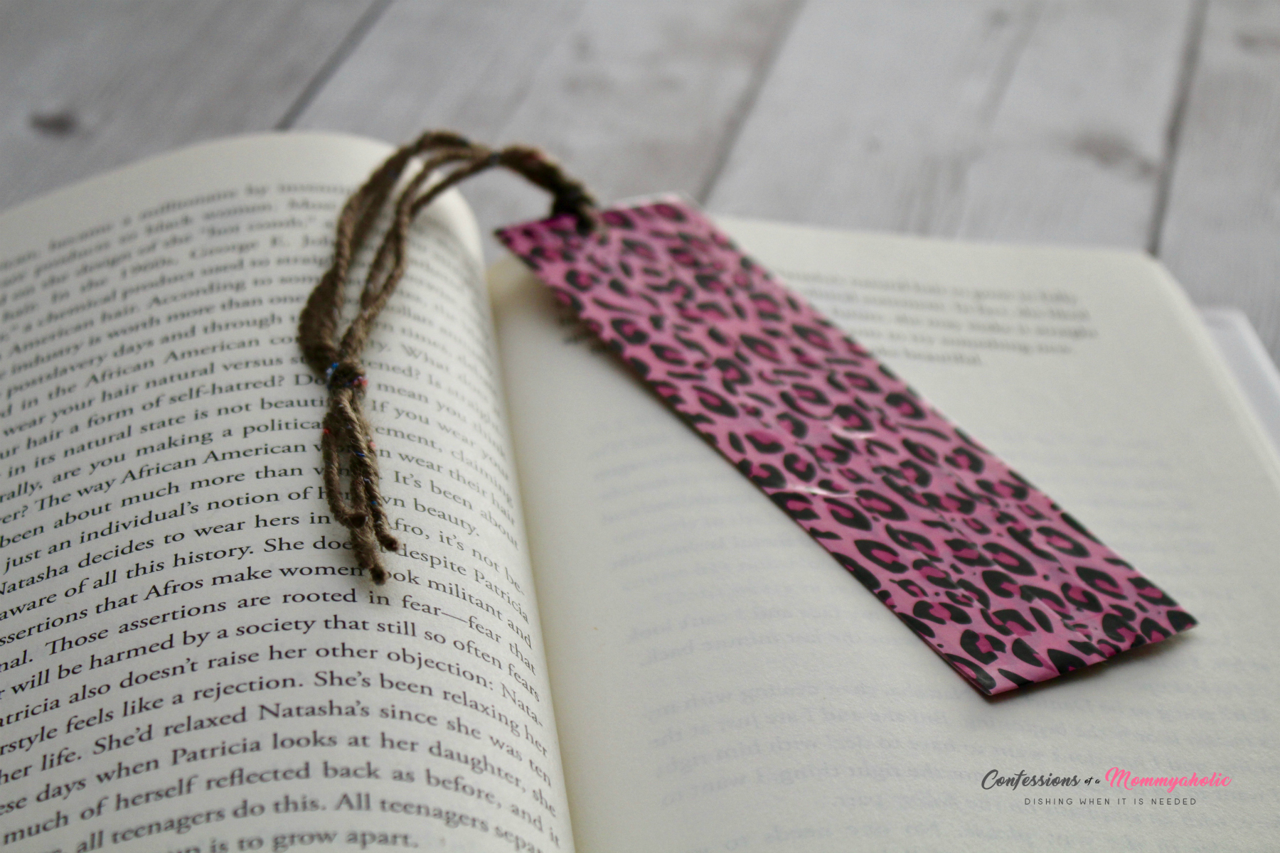 DIY Washi Tape Bookmark in Book