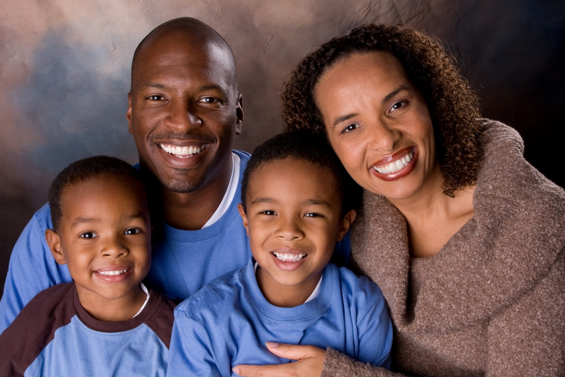 Nicole Johnson, founder of The Baby Sleep Site with her family
