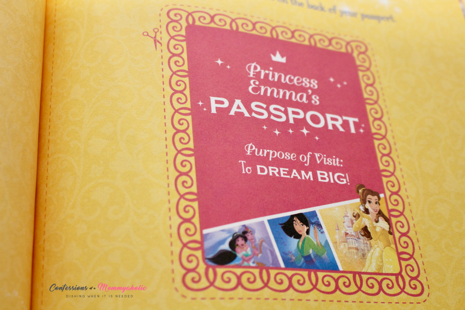 Personalized Princess Passport
