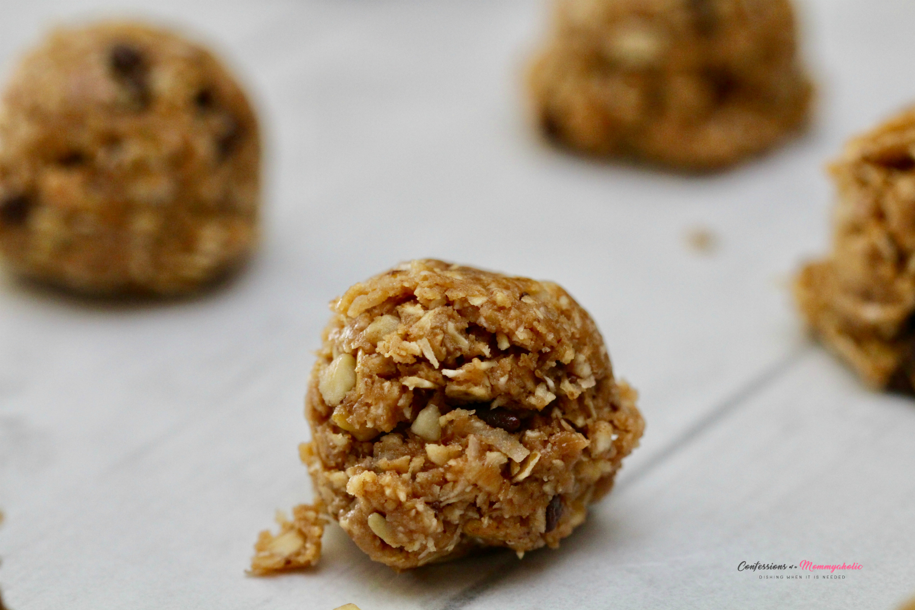 Closeup of Chocolate Oatmeal Ball