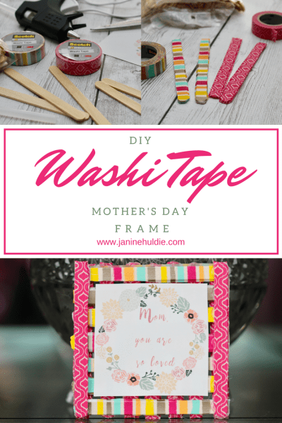 DIY Washi Tape Mother's Day Frame