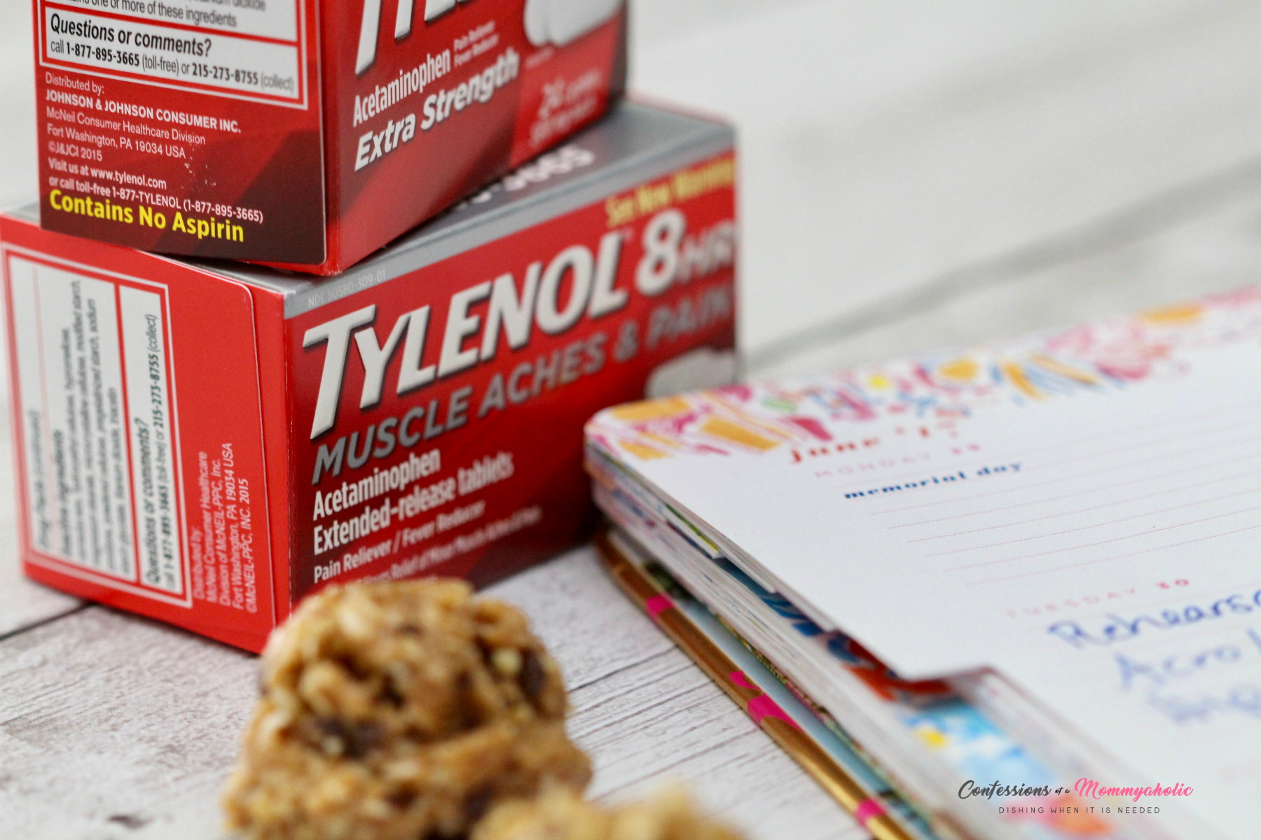 Planner Tylenol and Cookie Ball