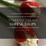 Tomato Cream Cheese Tulips Appetizer Recipe for Mother's Day