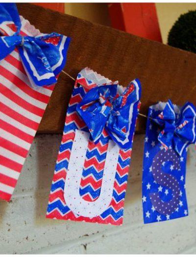 DIY USA Patriotic Banner