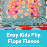 Easy Kids Flip Flops Fleece Tied Pillow Craft