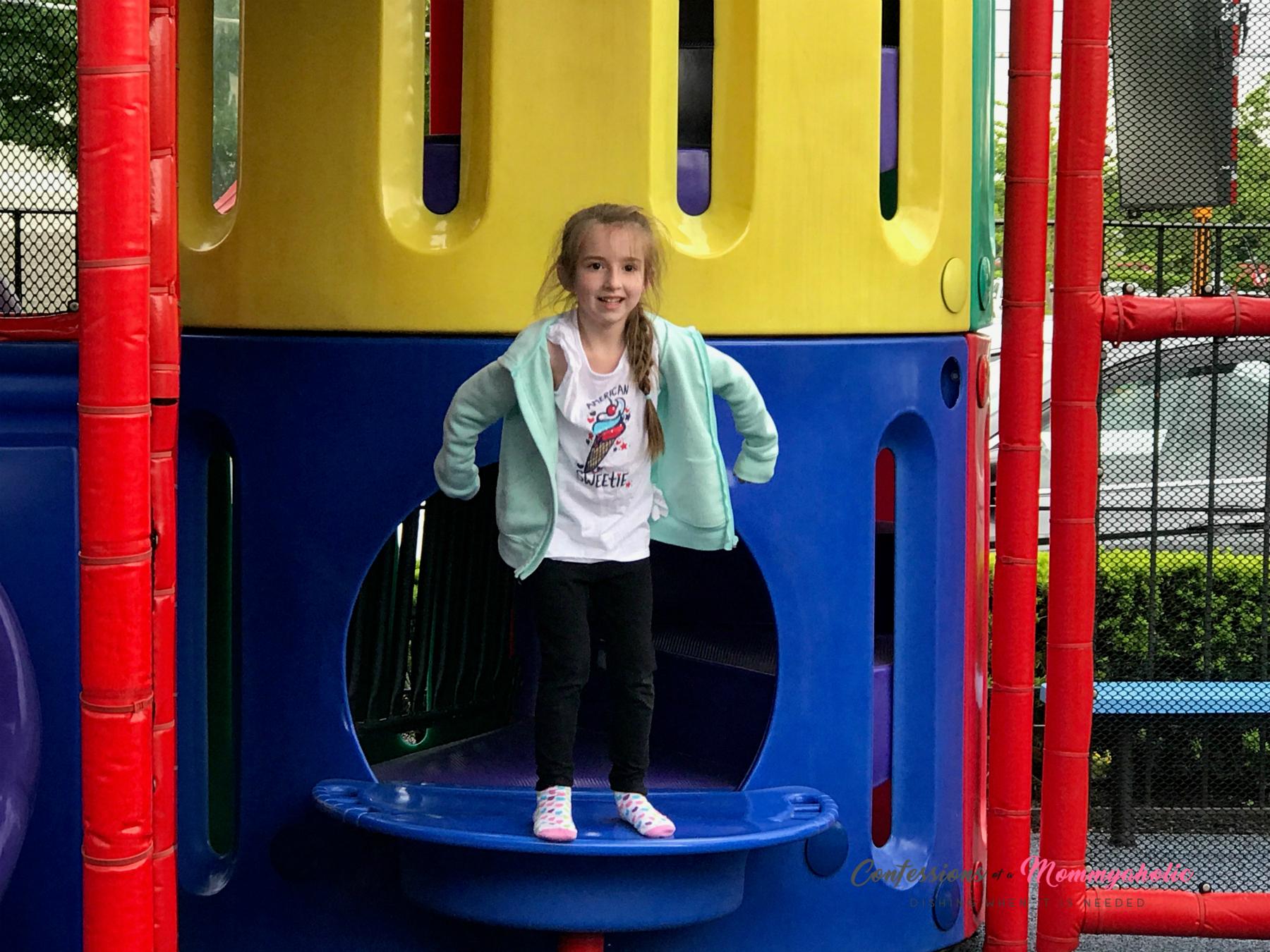 Having fun on McDonald's Playground