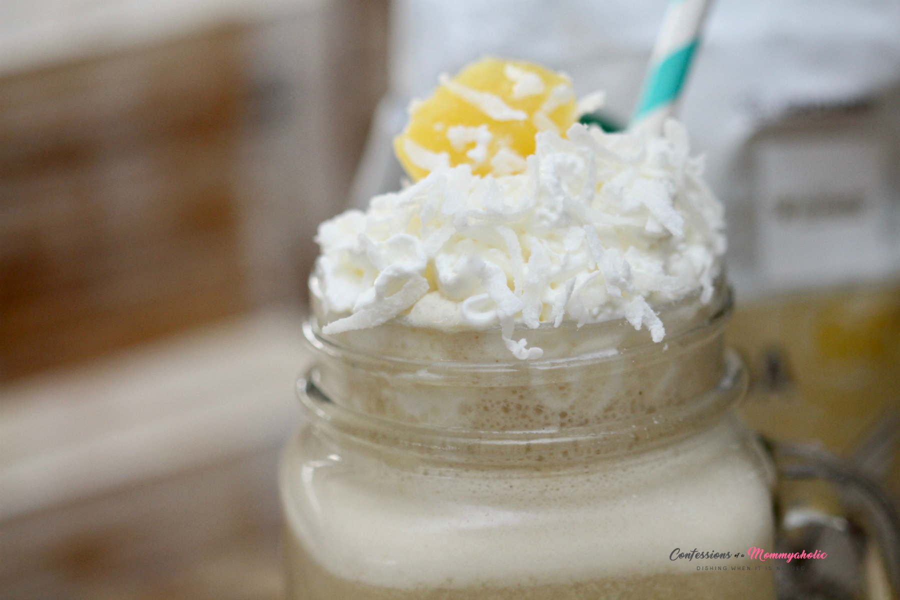 Pina Colada Iced Coffee Closeup 2