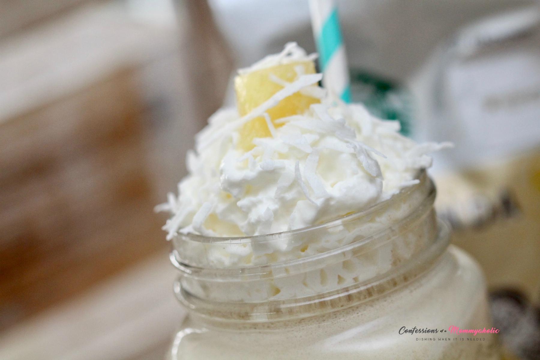 Pina Colada Iced Coffee Closeup