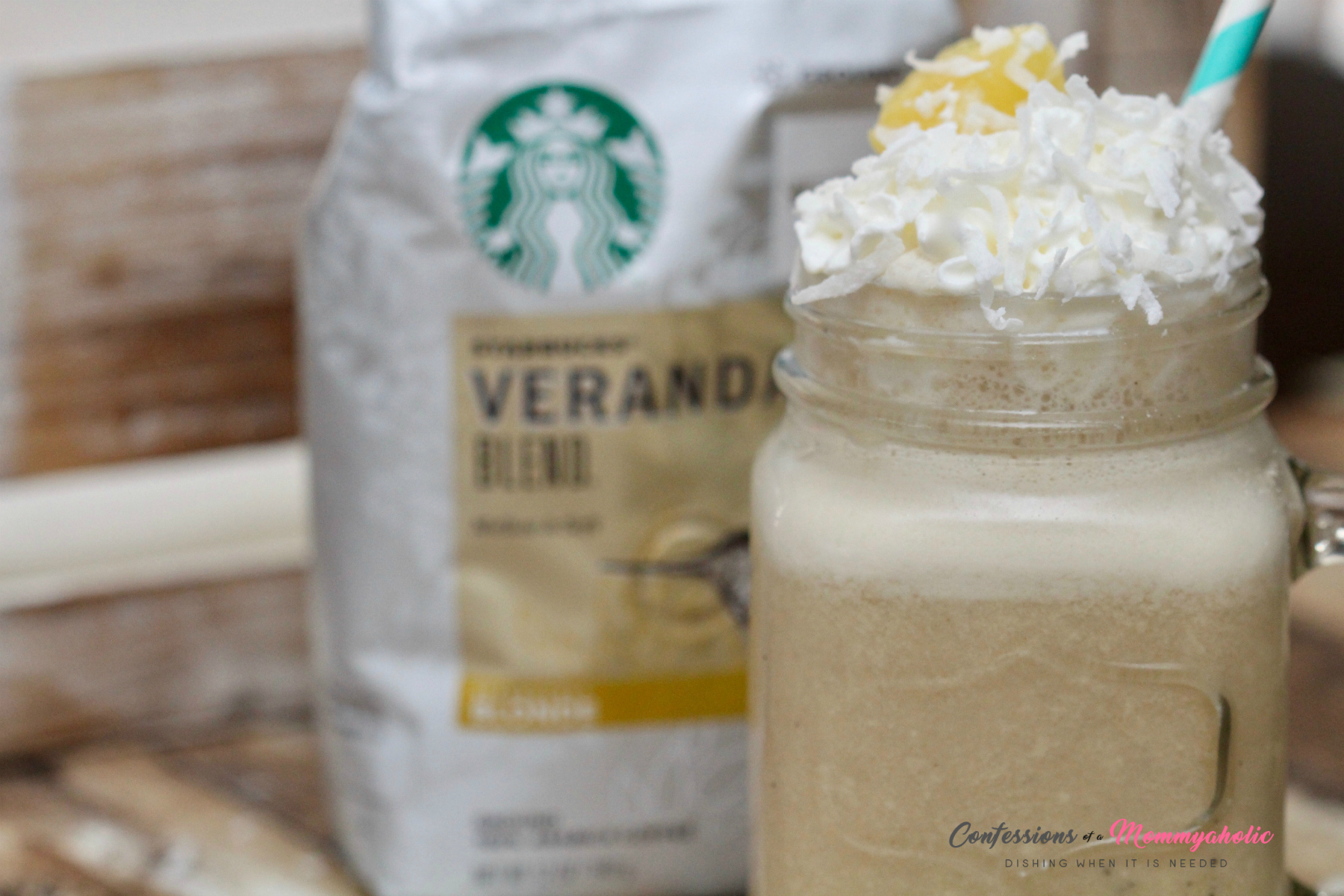 Pina Colada Iced Coffee with Starbucks Veranda